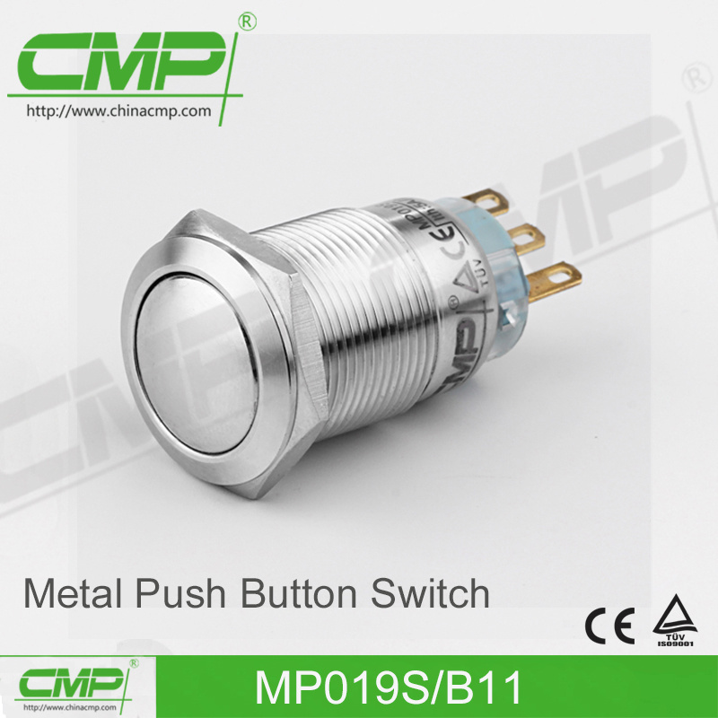 19mm Waterproof Momentary Push Button Reset Switch