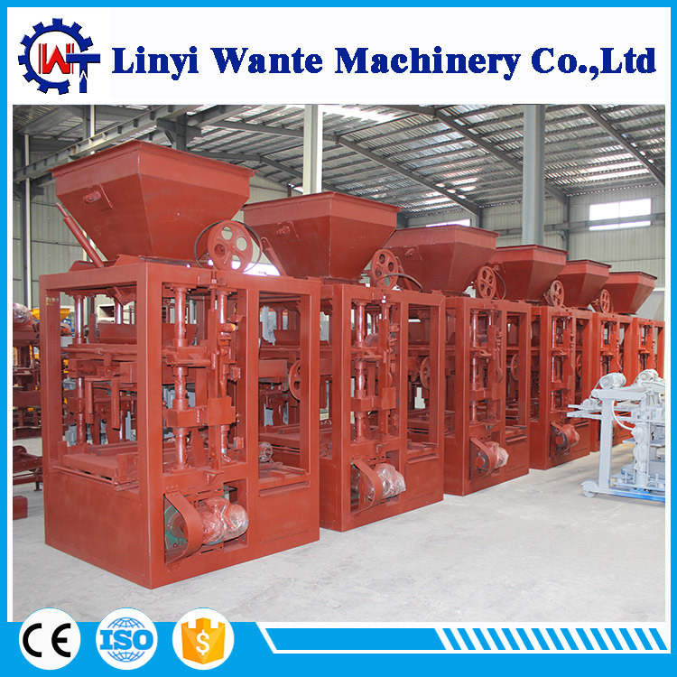 Qt4-24 Low Price Semi Automatic Brick/Block Making Machine