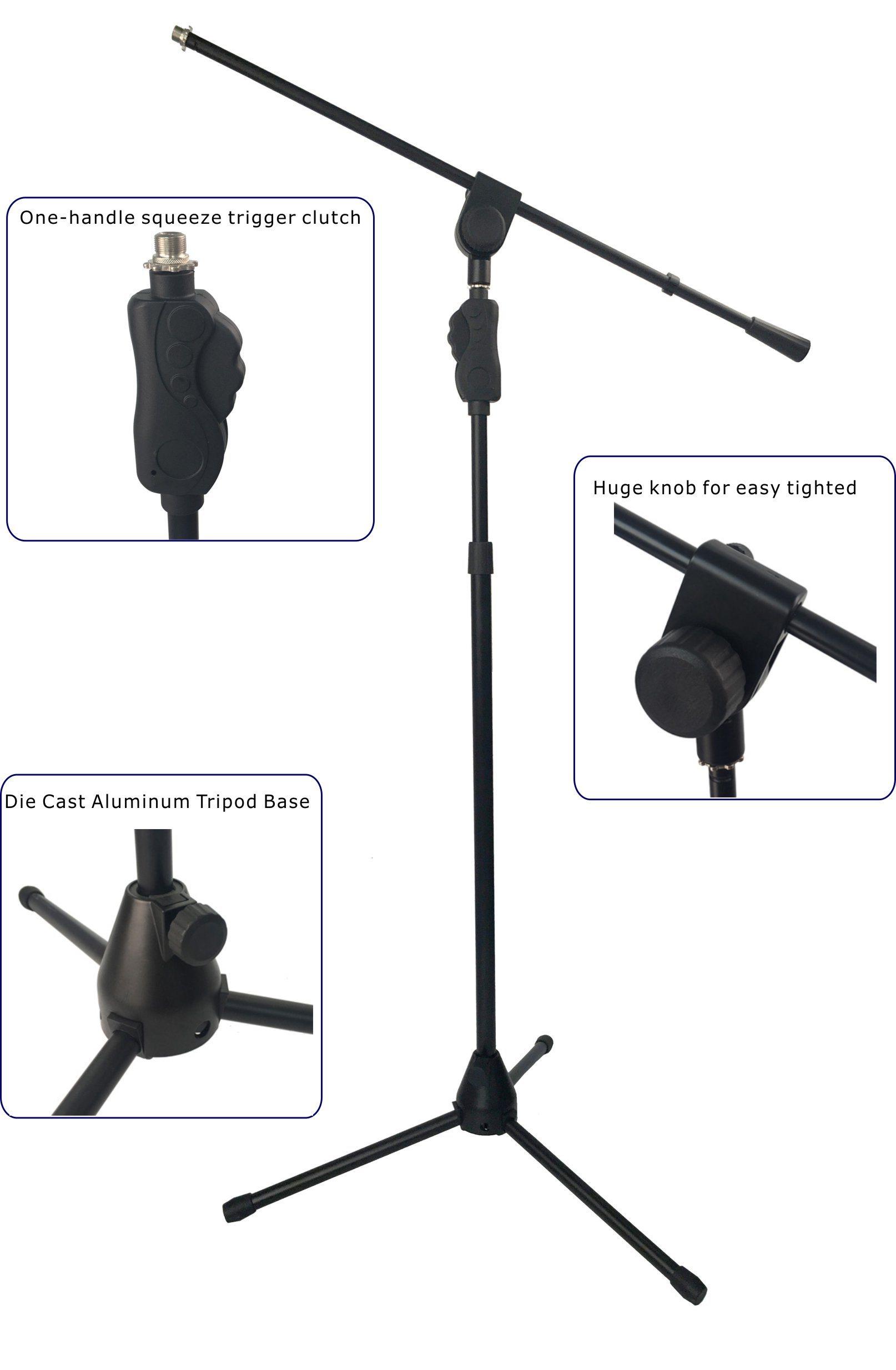 Heavy Duty Die Cast Aluminum Tripod Base Microphone Stand (TMC405)
