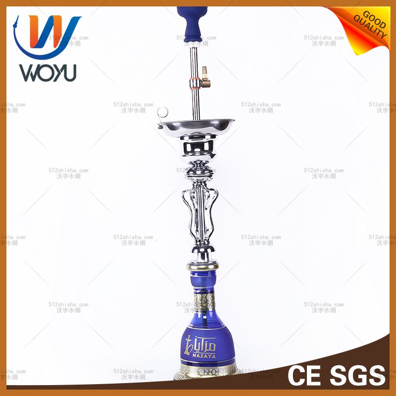 Iraqi Style Water Pipes Silicone Hookah Smoking Device Features in The Middle East Tobacco Blue Water