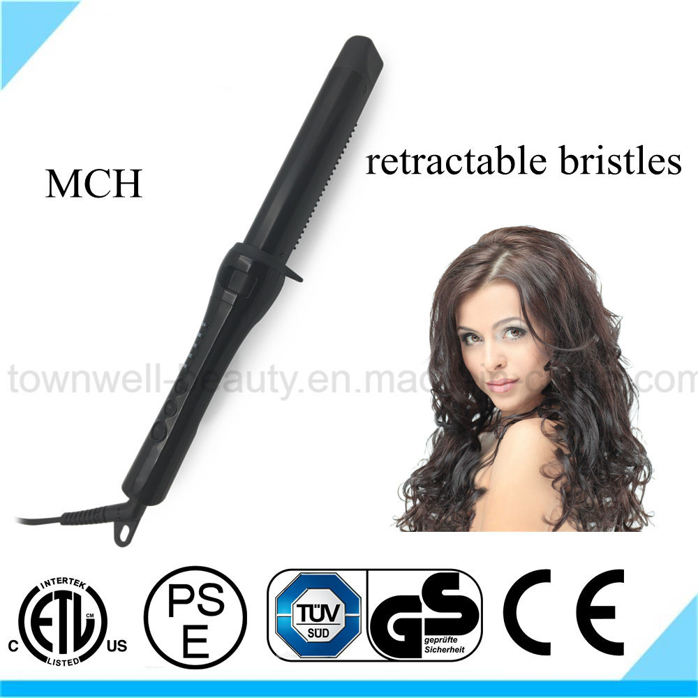 2017 Innovative Design Curling Iron with Retractable Bristles