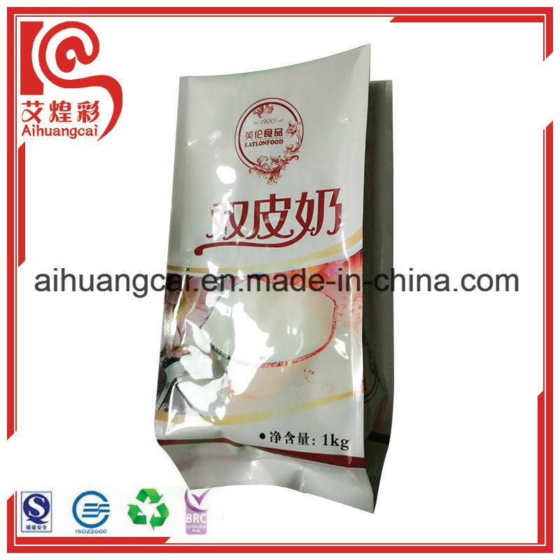 Printed Side Gusset Aluminum Foil Plastic Food Bag