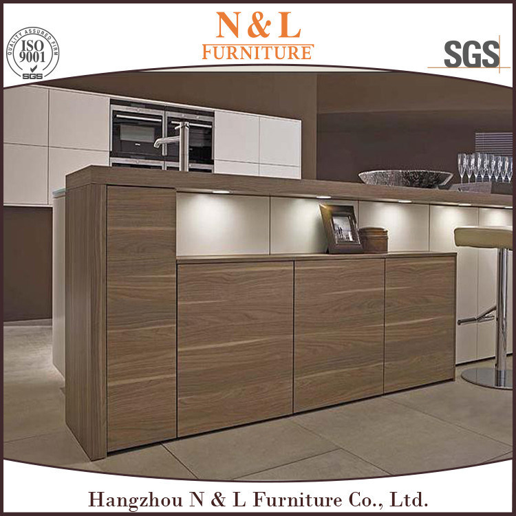 N & L 2017 Modern Kitchen Furniture Wood Veneer Kitchen Cabinet