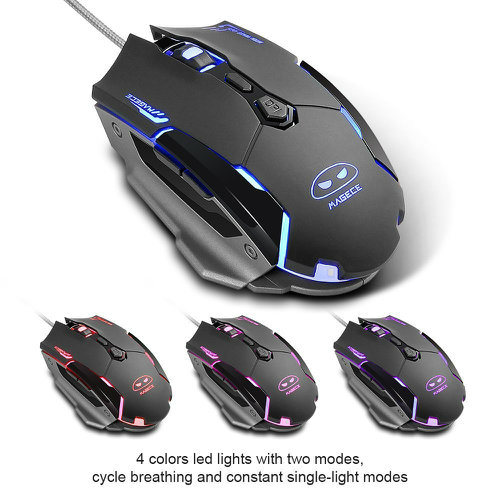 Computer Mouse/USB Wired Gaming Mice for PC Mouse G2 Gaming Mouse 6 Buttons 3200 Dpi Black