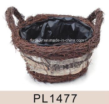 Salim Rattan Garden Floral Basket
