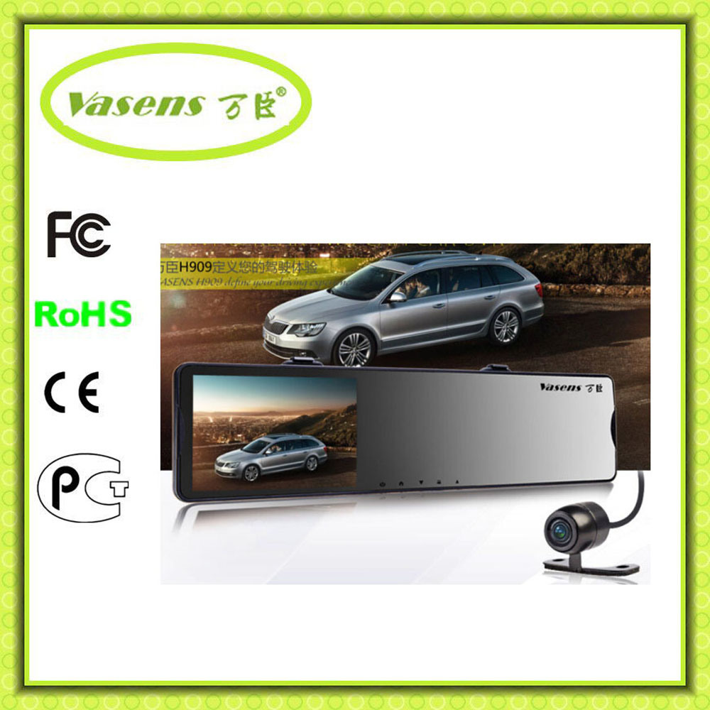 Two Camera Rearview Mirror Dual Cameras 1080P Car DVR