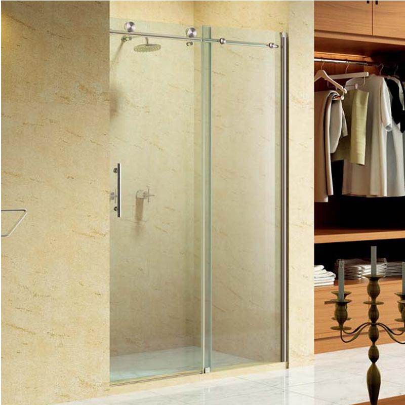 Aluminum Profile Sliding Bathroom Shower Enclosure with Stainless Steel Handle (K04)
