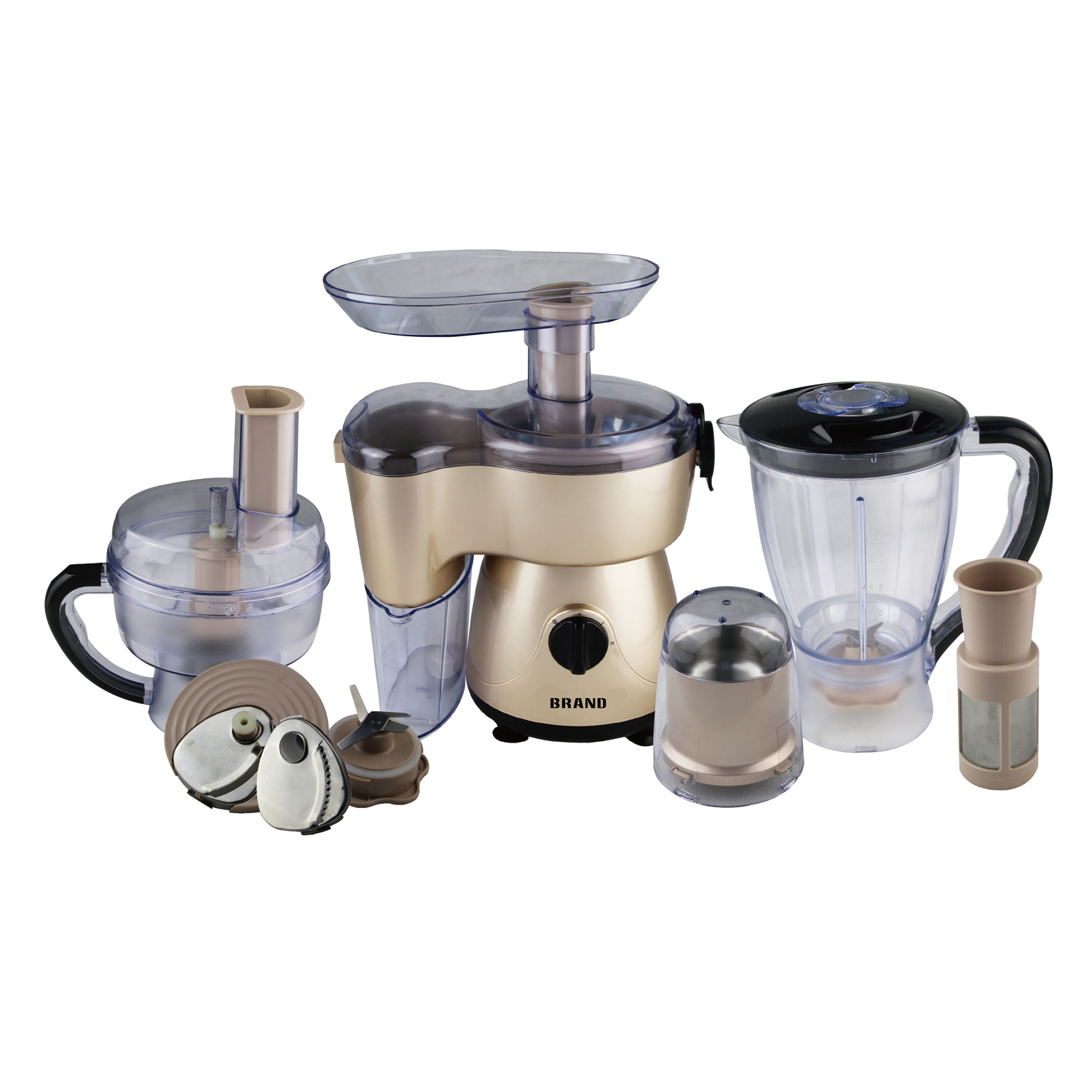 Golden Color 6 in 1 Multi Functional Food Mixer