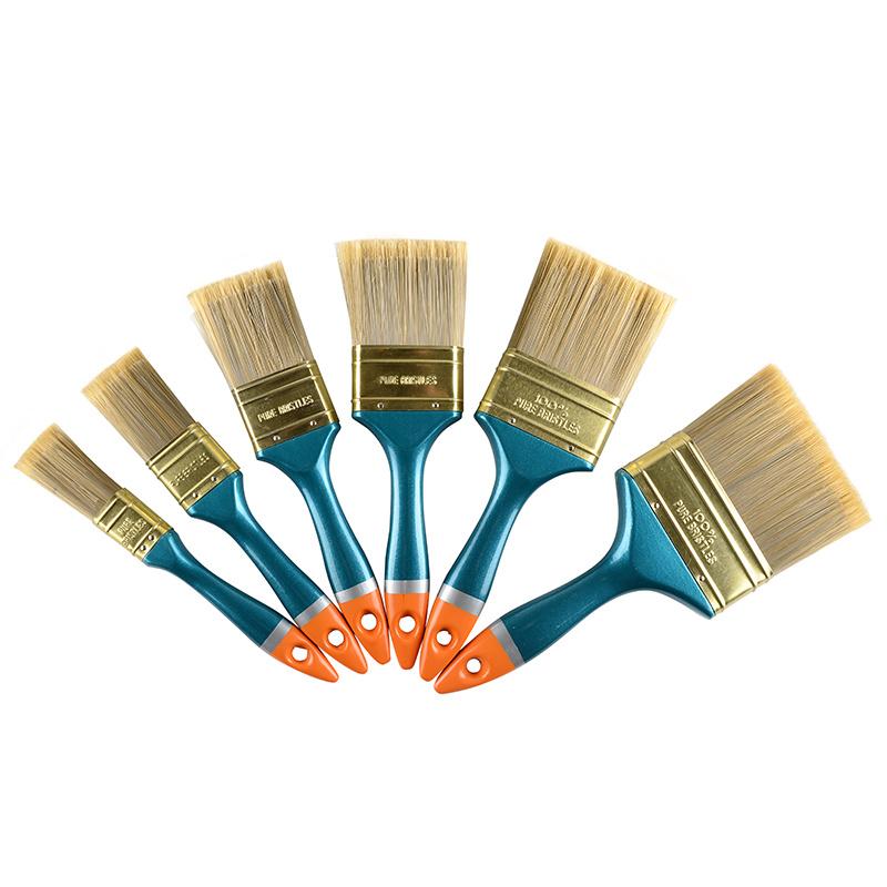 High Quality Plastic Blue Handle Golden End Paint Brush