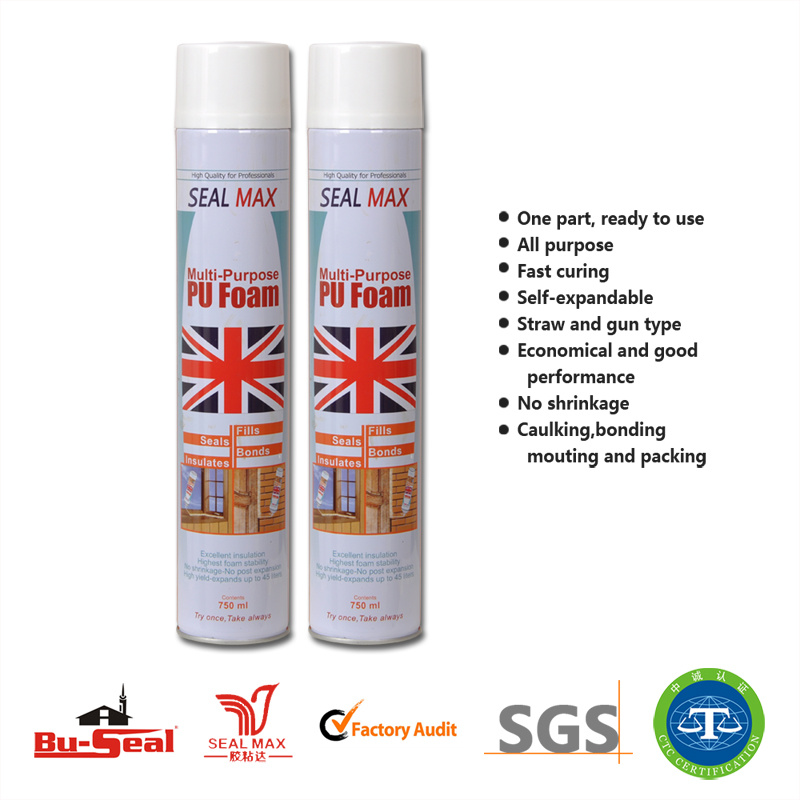 Building Material Chemical Adhesive Gap Filling Polyurethane Foam (SM-555)