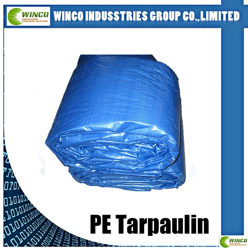 PE Tarpaulin Tent for Cover, Blue Tarpaulin for Truck Cover, Boat PE Tarpaulin