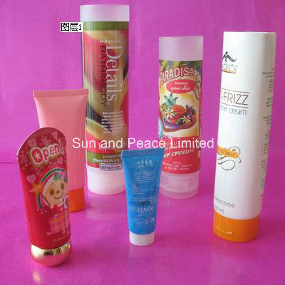 Plastic Round Oval Laminated Cosmetic Flexible Foam Tubes
