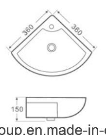 2016 New Design Ce Certification Pedestal Basin 1011