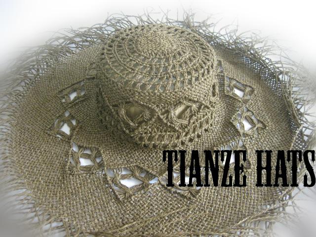 Twist Paper Cowboy Straw Hat′s Hat Body