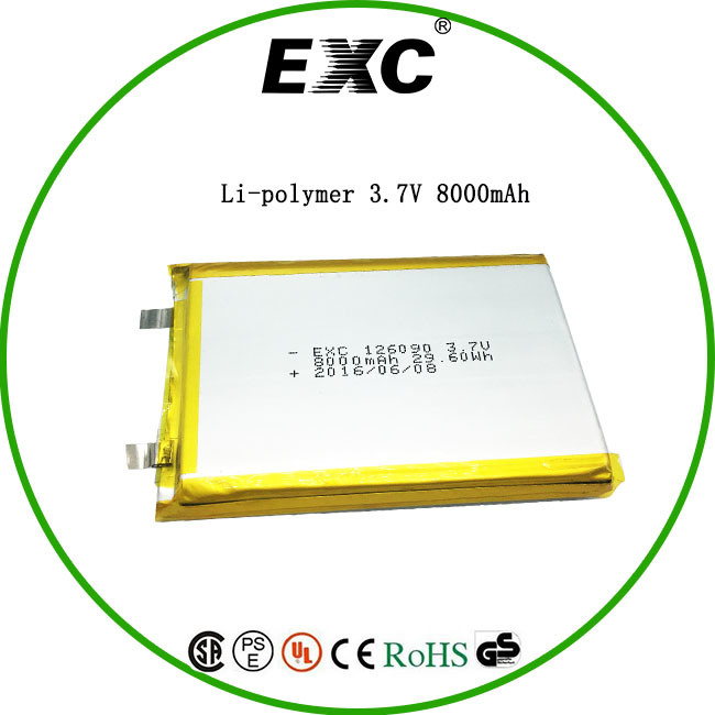 Exc126090 Lithium-Ion Polymer Battery 29.6wh 8000mAh for Tablet