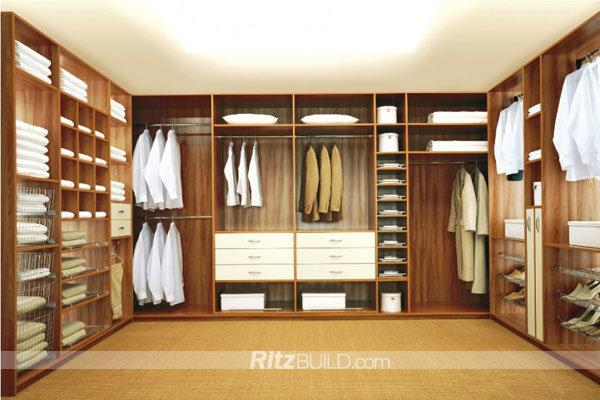 Modern Bedroom Wardrobe / Customized Walk in Closet Design