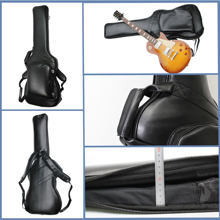 High Quality Unique Deluxe Leather Guitar Bag