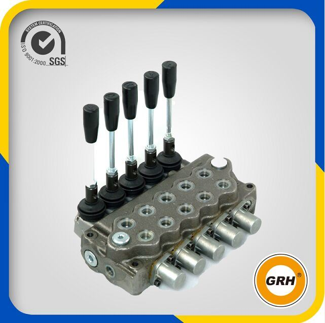 5 Spools Hydraulic Sectional Directional Control Valves