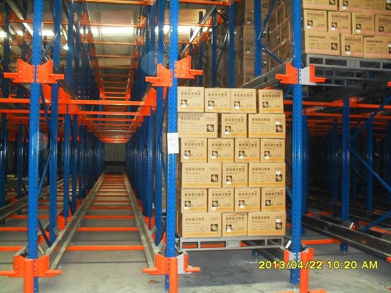 Radio Shuttle Metal Storage Pallet Rack