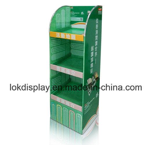 Cardboard Floor Display Rack, Books/Magazines Shelving Display Stands