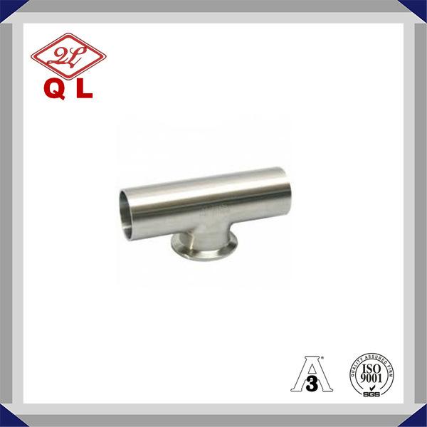 Food Grade 304/316L Sanitary Stainless Steel Welded Equal Tee