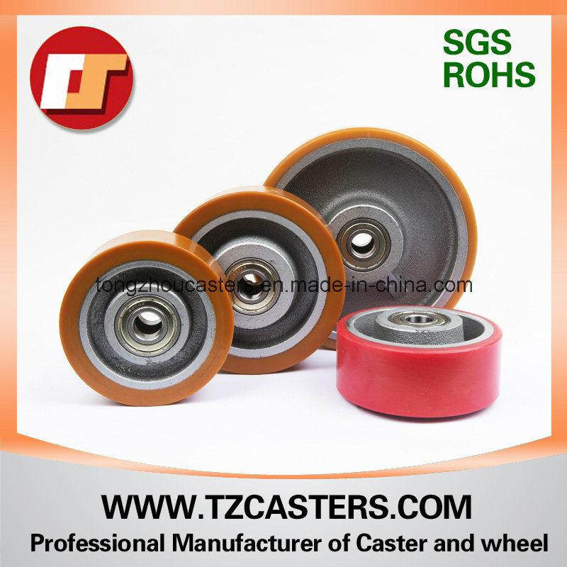 PU Wheel with Cast Iron Center 125*50