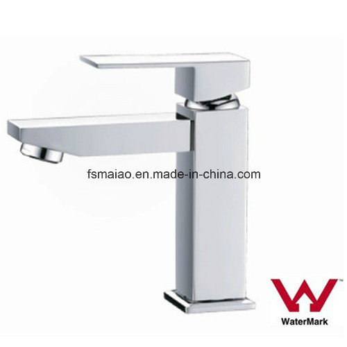 Watermark Single Handle Square Brass Basin Faucet (HD4250)