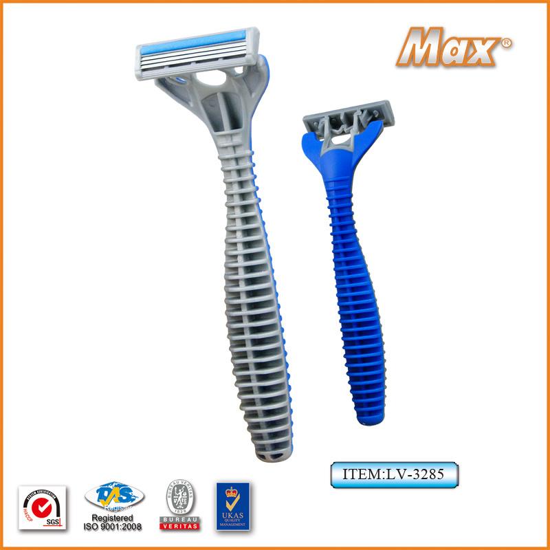 Triple Stainless Steel Blade Disposable Shaving Razor for Man (LV-3285)