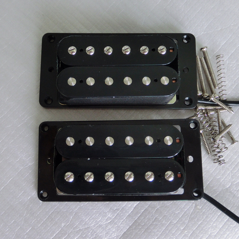 Hot Nickel Silver Baseplate High Ouput AlNiCo Humbucker Guitar Pickup