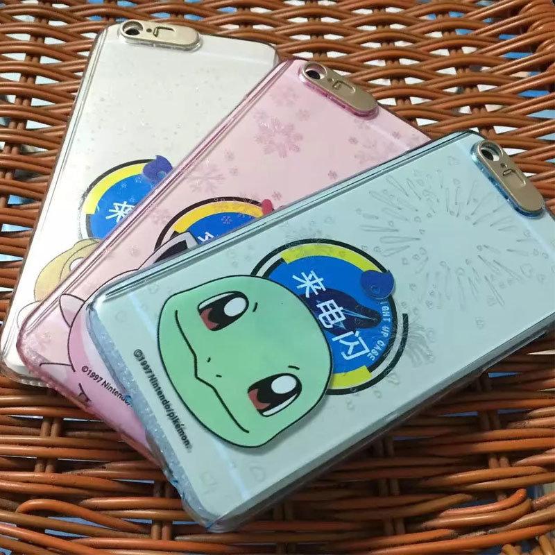 Full Cover Pokemon Go Phone Case with LED Flash