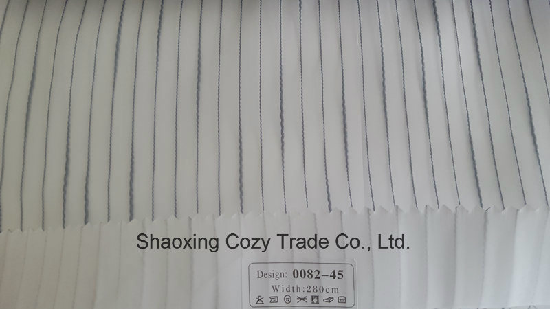 New Popular Project Stripe Organza Sheer Curtain Fabric 008245