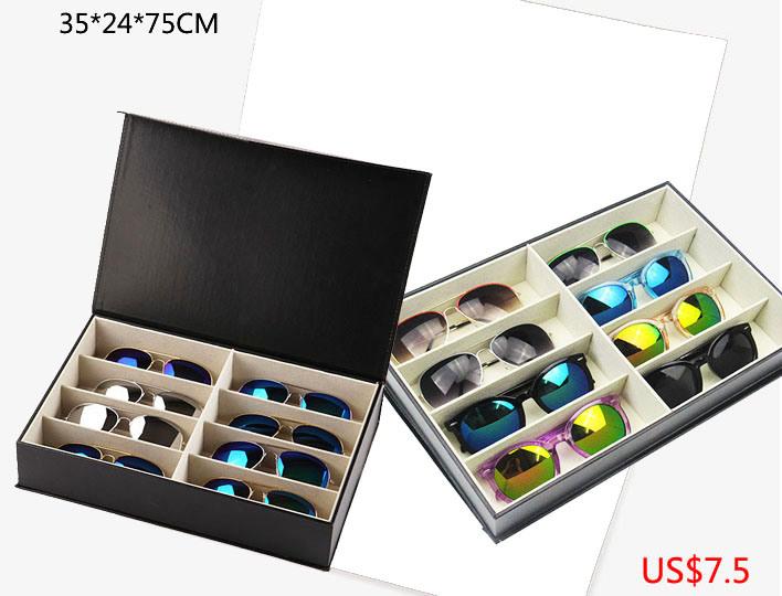 Luxury Good Quality Sunglasses Eyewear Display Box Showing Case (X035)