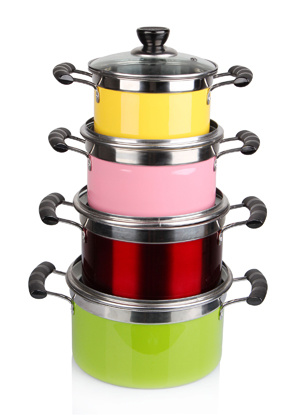 8PCS Stainless Steel Cooking Pot Set