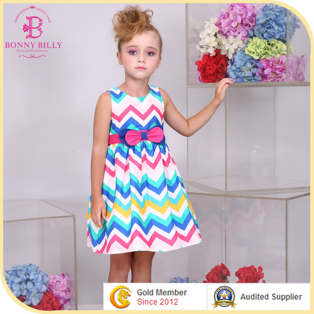 Cotton Summer Summer Chevron Cotton Dress