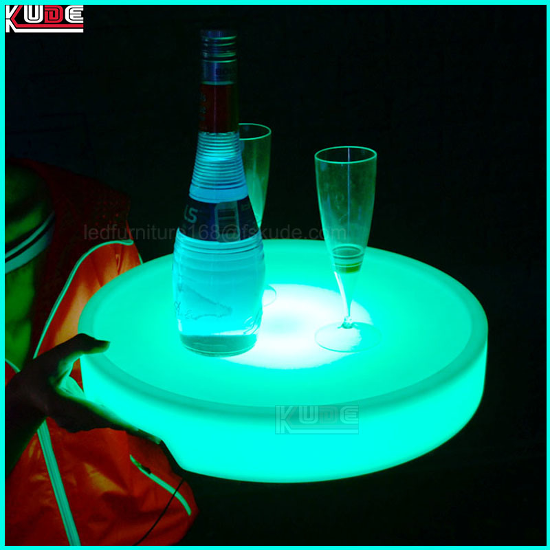 LED Wireless Light up Plastic Wine Fruit Tray