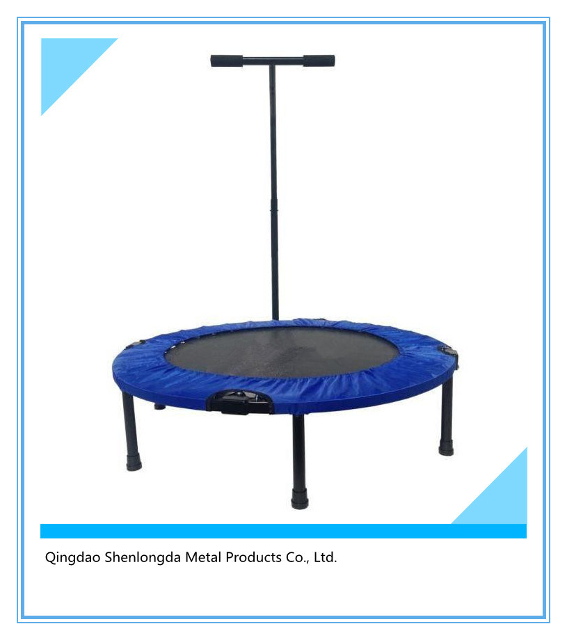 Trampoline with Adjustable Safety Bar