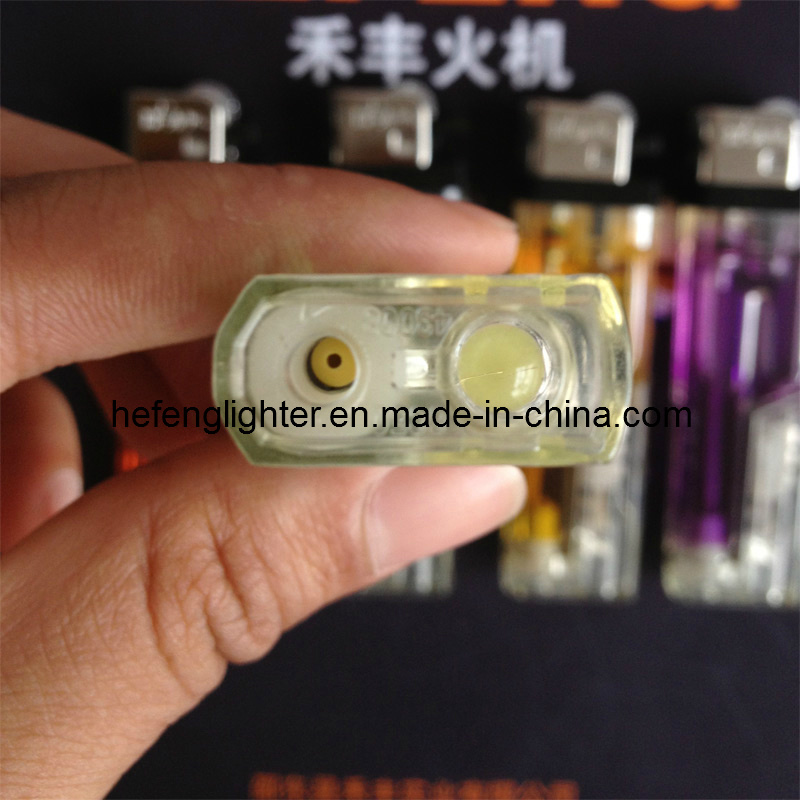 Disposable Grinding Wheel Lighter /Flint with LED Light/Refillable