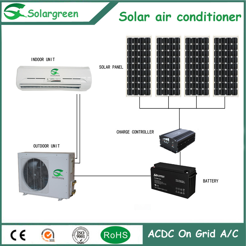 Solar Panel Energy Saving off Grid DC Solar Air Conditioner