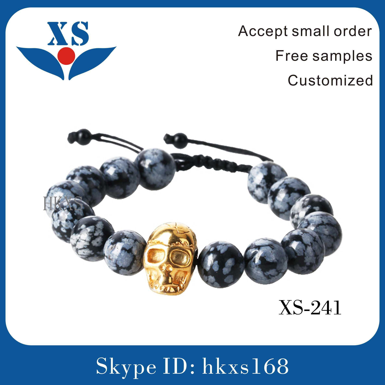 High Quality Gold Plated Skull Custom Bracelets