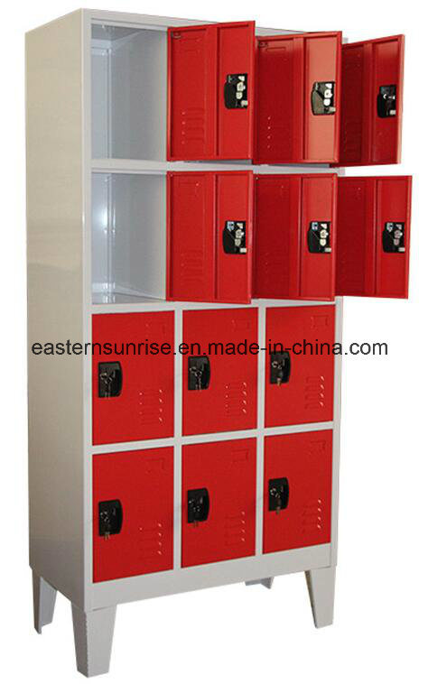 12 Door Compartments Steel Storage Locker
