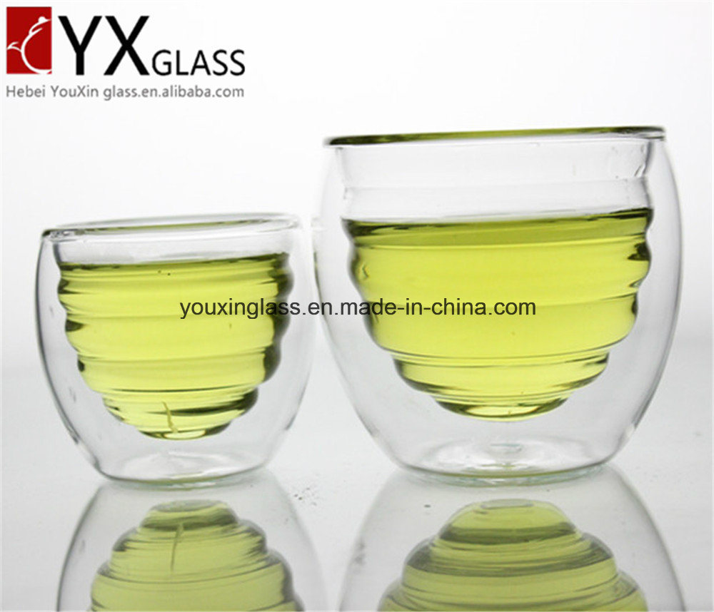 Borosilicate Heat-Resistant Glass Drinking Mug/Double Wall Layer Glass Cup