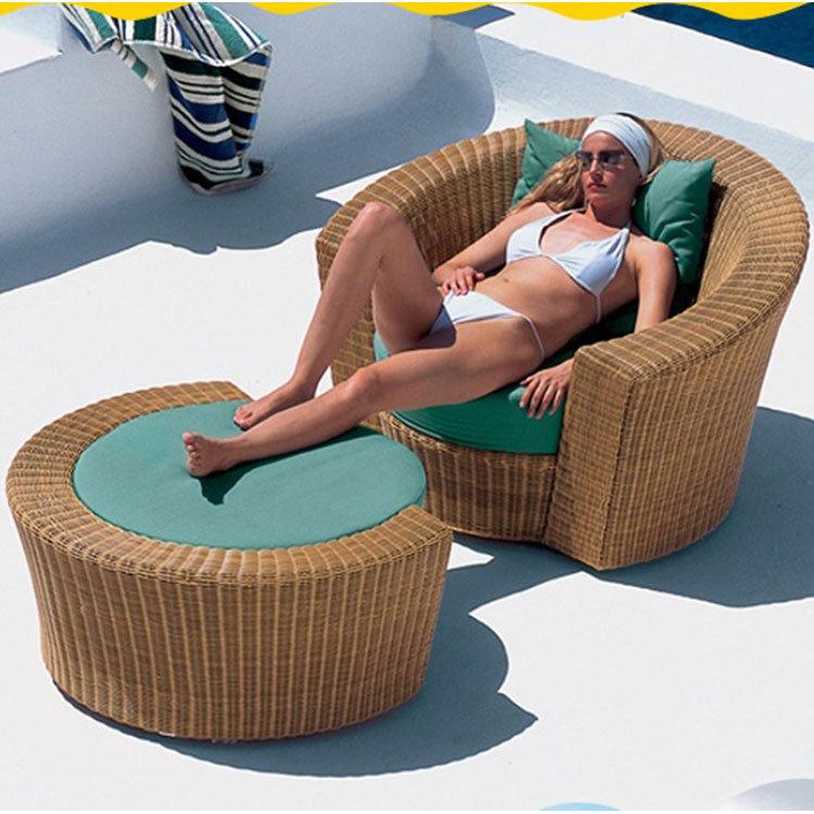 Leisure Single Sofa Rattan Sofa Outdoor Leisure Garden Sofa (S106)