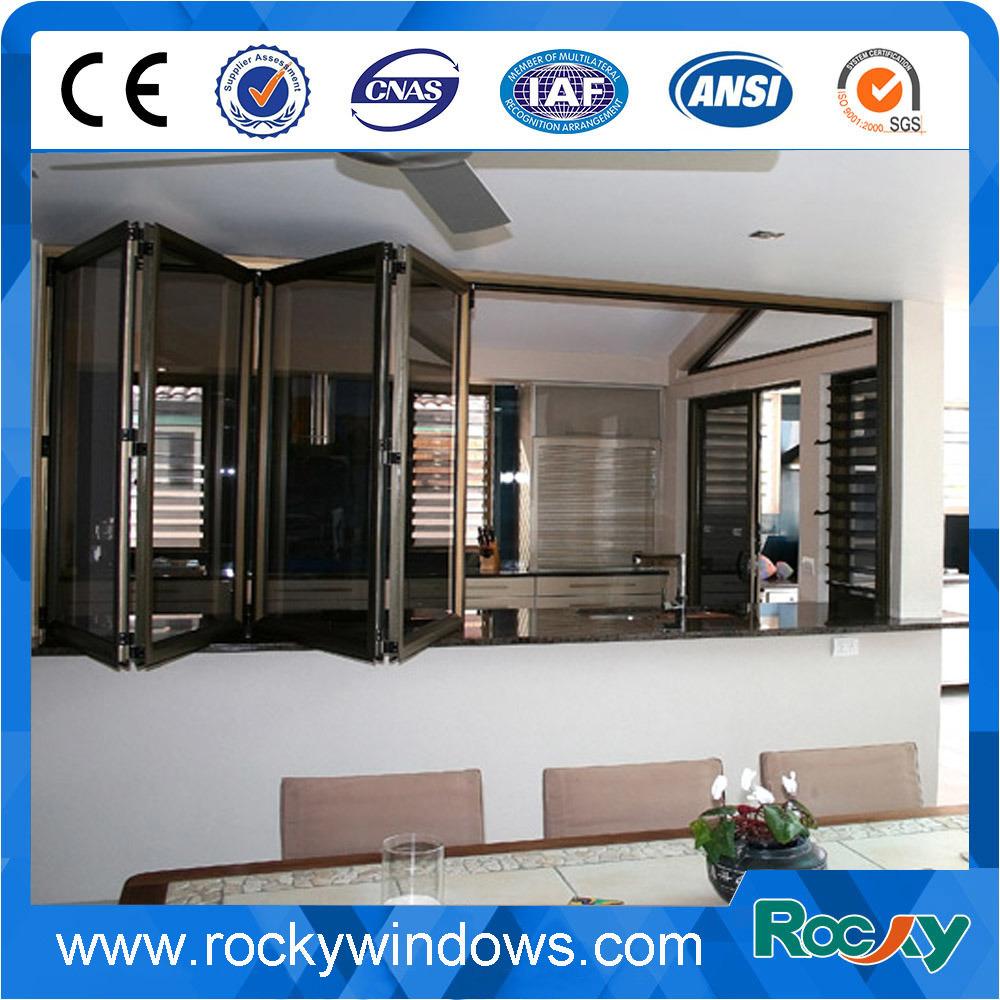 Aluminum Sliding Folding Door / Window with Safe Tempered Glass/Laminated Glass