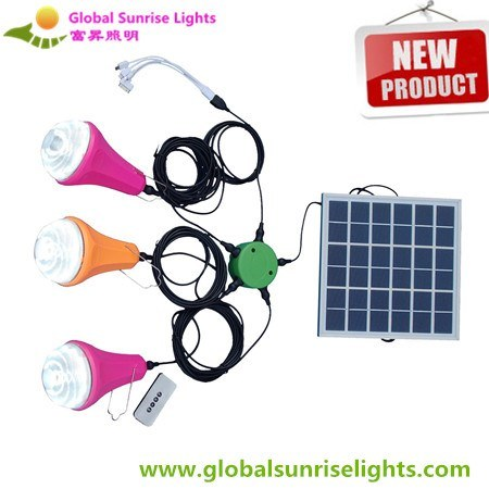 High Power Emergency Lamp Solar Trailer Indoor Solar Light Kit with Cell Phone Charger