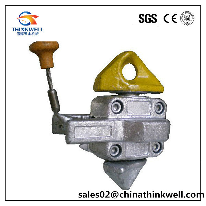 Forged Steel Semi-Automatic Fixing Cone Container Midlock Twistlock