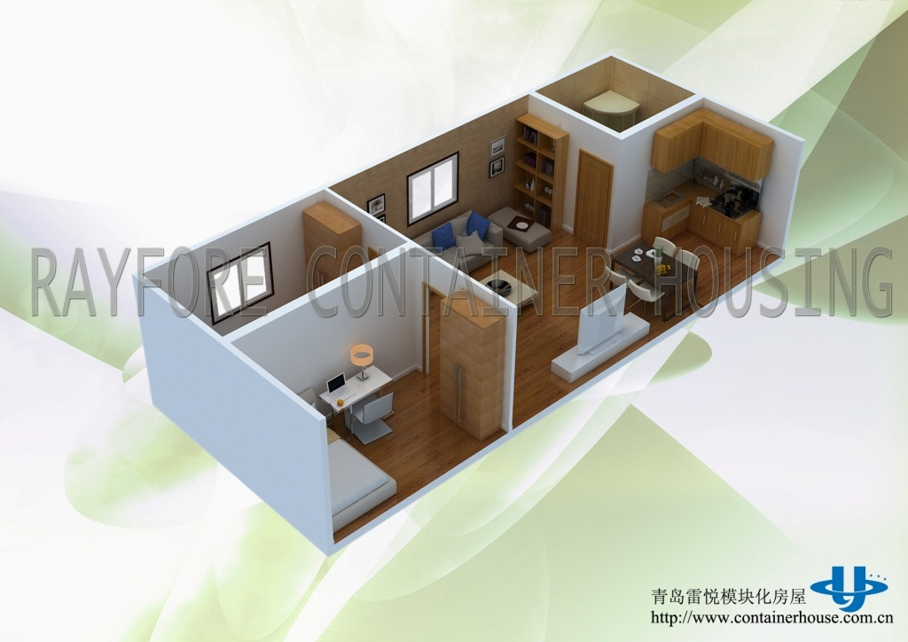 China 2 40ft prefab container house with photos pictures for Prefab container home plans