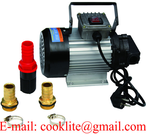 220V Engine Oil Transfer Gear Pump Motor 550W 20L/Min