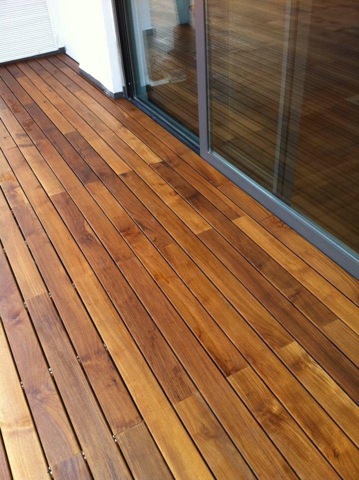 china easy installation wood flooring balcony deck photos