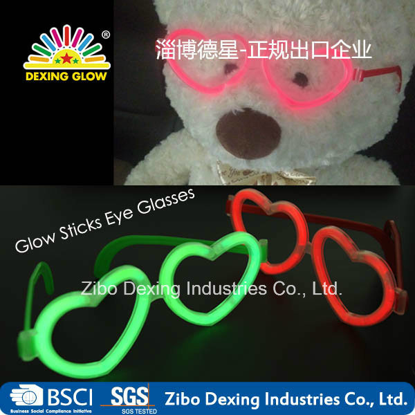 Multi Color Glow Sticks Heart Shaped Glasses Light Party
