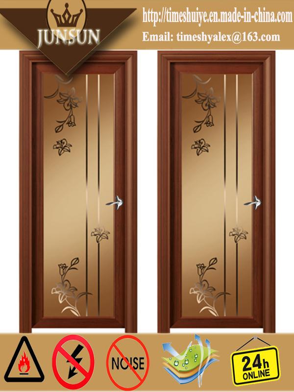 New Color Aluminum Frame Bathroom Door